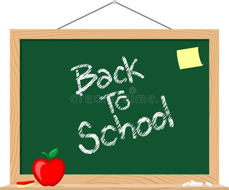 Download Blackboard back to schoo stock vector. Image of illustration - 32253849