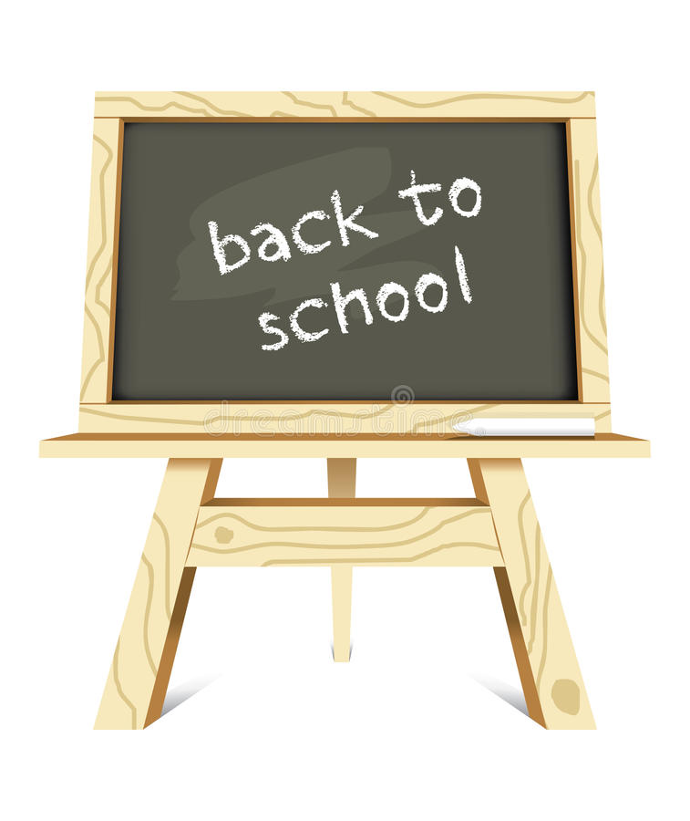 Download Blackboard With Back To School Message Stock Vector - Image: 15771094