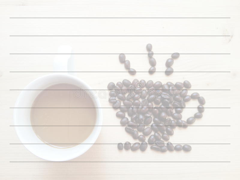 Blackboard and beans coffee royalty free stock photography