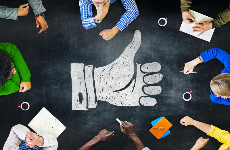 Blackboard Brainstorming Cooperation Planning Meeting Strategy S royalty free stock images