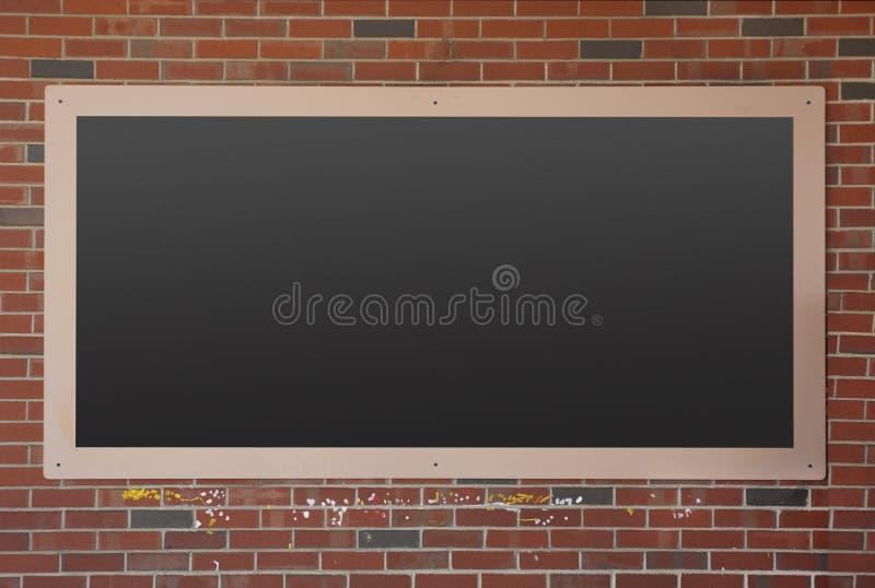 Blackboard on brick wall