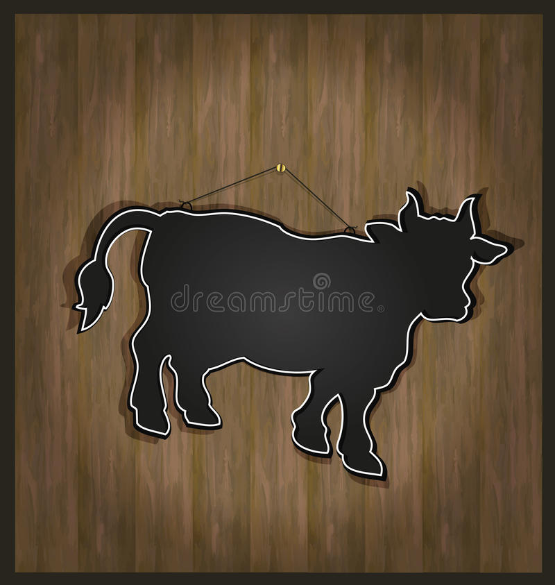 blackboard byka krowy menu royalty ilustracja