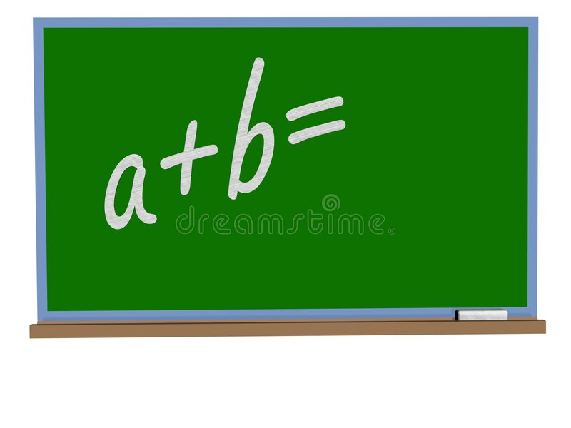 Download Blackboard with chalk stock illustration. Image of message - 1777744