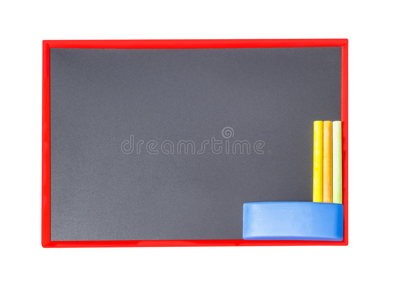 Download Blackboard With Chalk And Eraser Stock Photo - Image of business, blank: 39507924