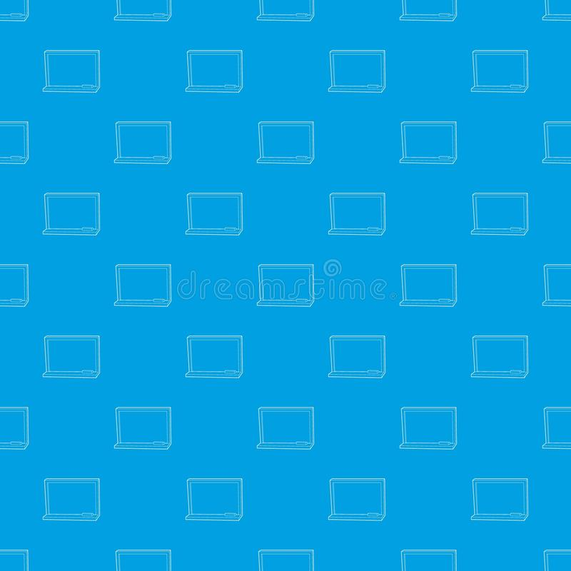 Blackboard with chalk pattern vector seamless blue stock illustration