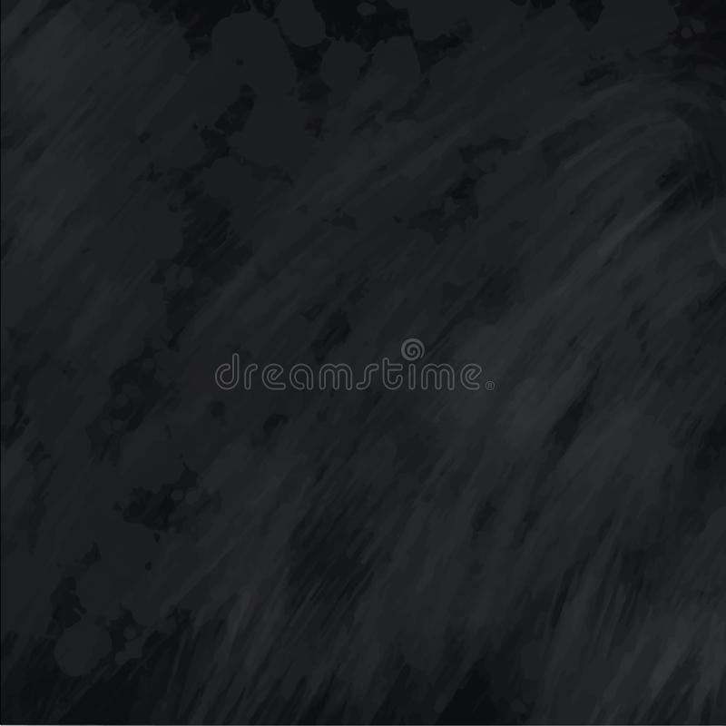 Blackboard chalkboard texture. Empty blank black chalk background with chalk traces, illustration for back to school theme stock illustration