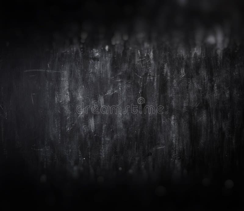 Blackboard chalkboard texture. Empty blank black chalkboard with chalk traces. School Board, retro blackboard stock image