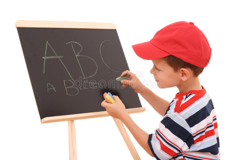 Download Blackboard And Child Royalty Free Stock Photo - Image: 2925785