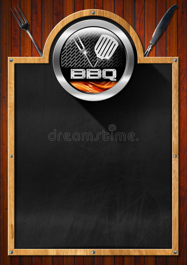 Blackboard dla grilla menu ilustracja wektor