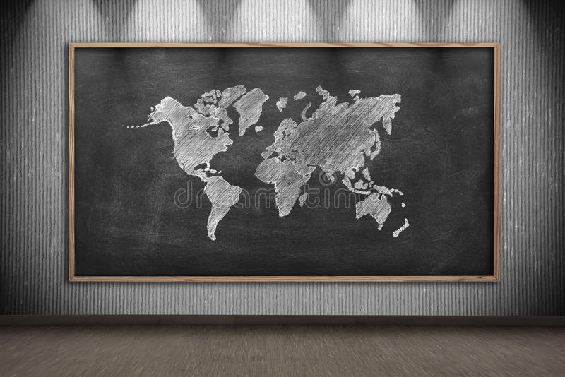 Blackboard with drawing world map stock photo image of asia download blackboard with drawing world map stock photo image of asia classroom 57405292 gumiabroncs Images