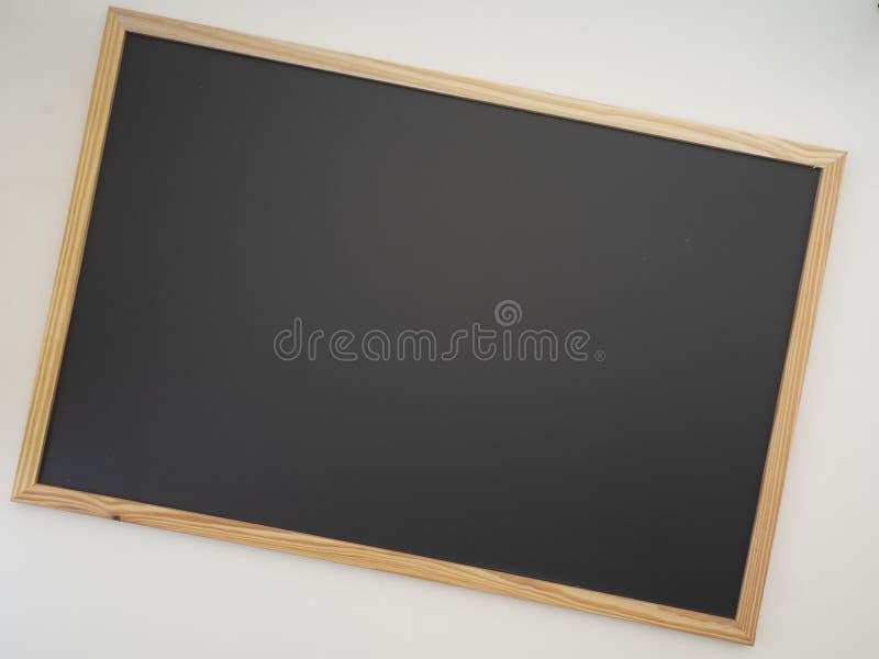 Blackboard, drewniana rama, opróżnia przestrzeń dla projekta fotografia stock