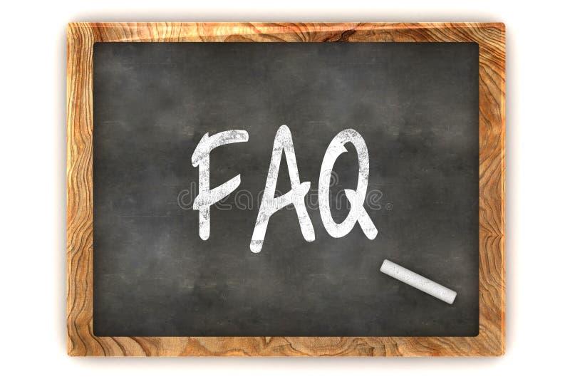 Download Blackboard FAQ stock illustration. Image of icon, empty - 34043212