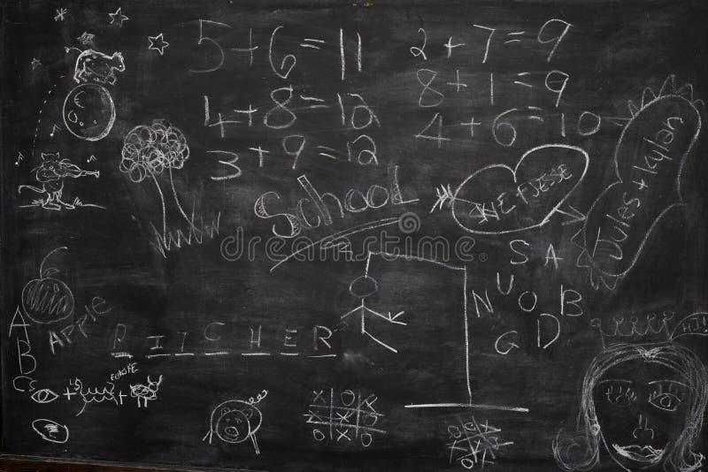blackboard graffiti obraz royalty free