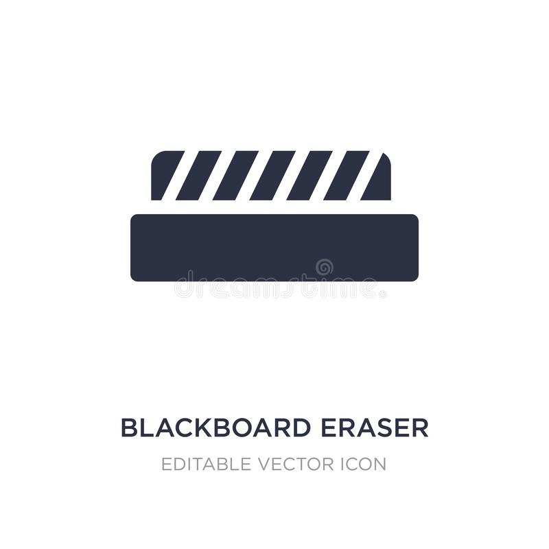 blackboard gumki ikona na białym tle Prosta element ilustracja od edukacji pojęcia ilustracji