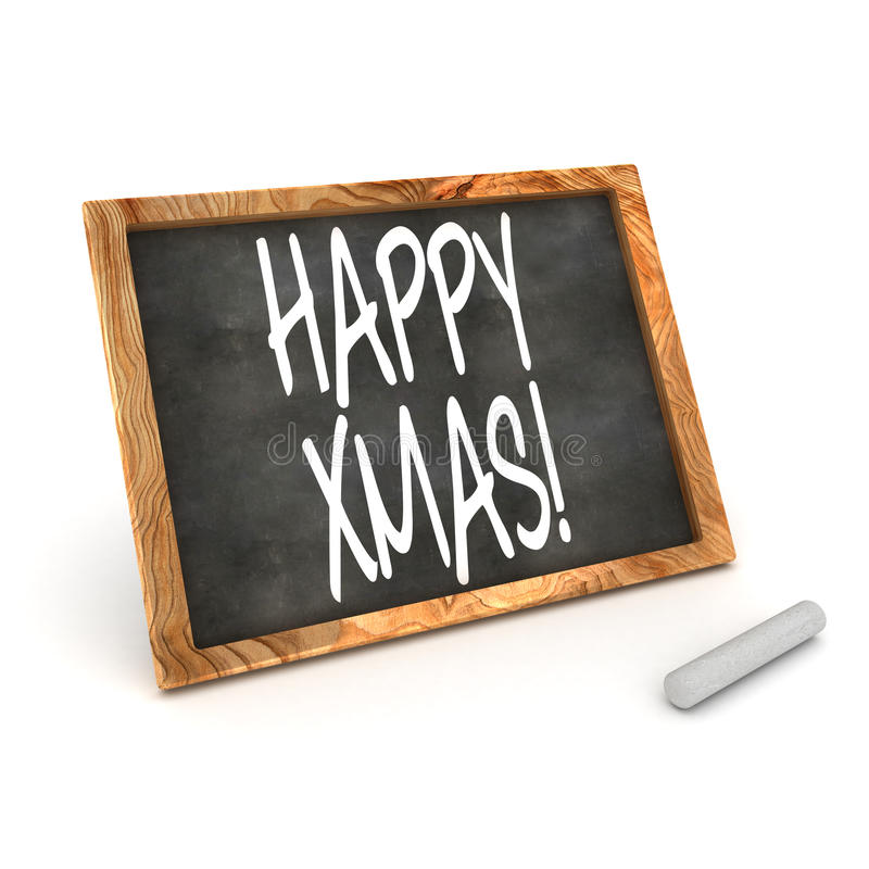 Blackboard Happy Xmas Stock Images