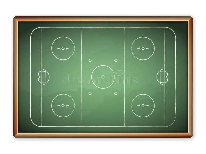 Blackboard hokej ilustracja wektor