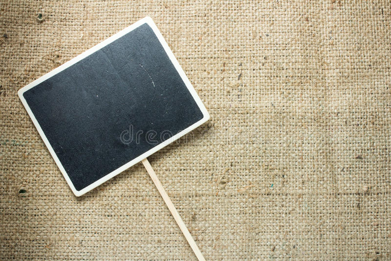 Blackboard Hollow square style wooden plate stock photography