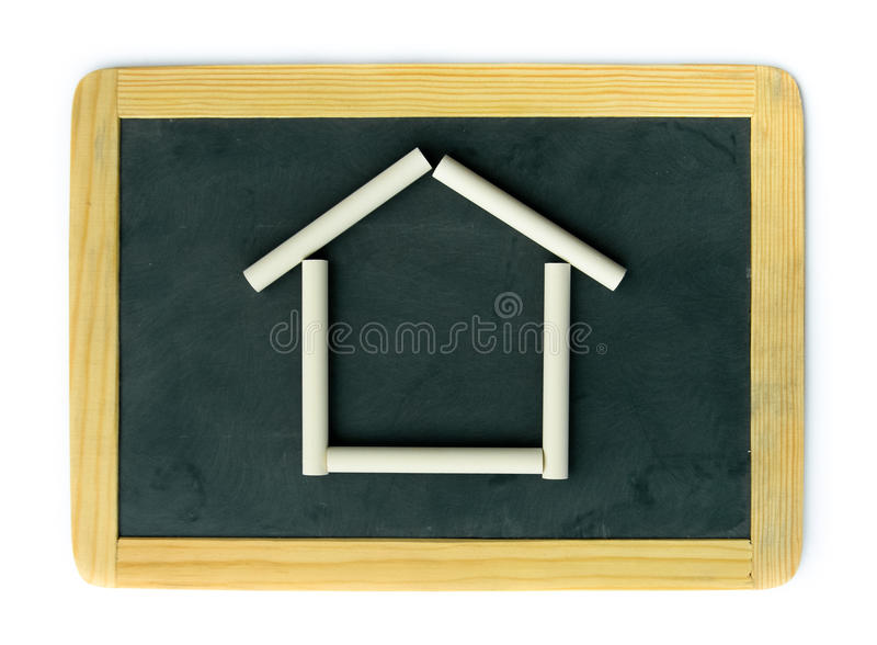 Download Blackboard home concept stock photo. Image of blank, home - 28611404