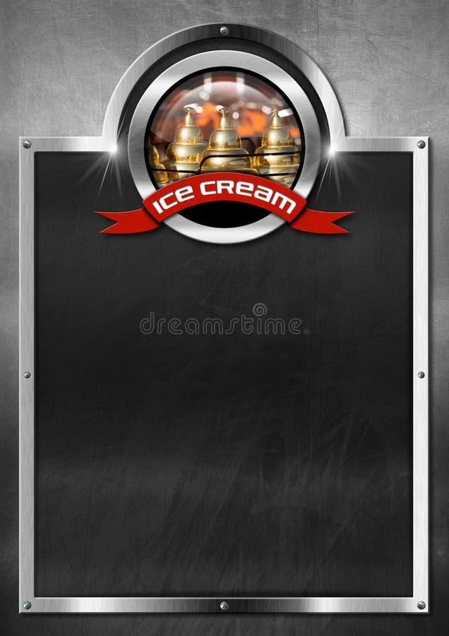 Blackboard for Ice Cream Menu vector illustration