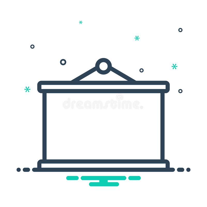 Black mix icon for Blackboard, education and study royalty free illustration