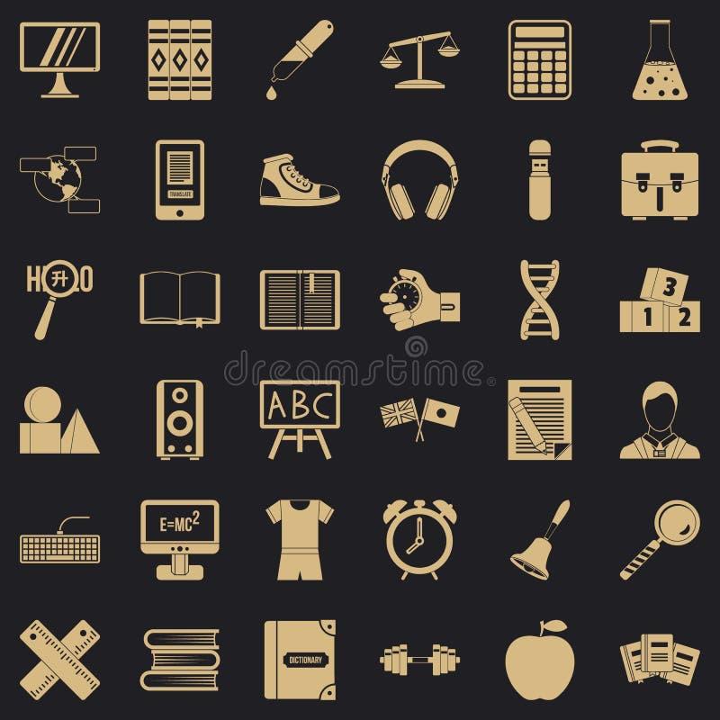 Blackboard ikony ustawiać, prosty styl royalty ilustracja