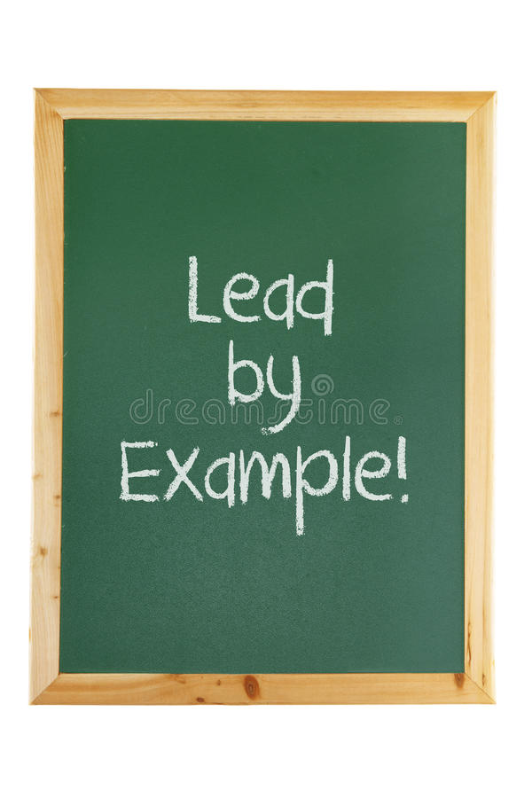 Blackboard with Inspiration Message stock image