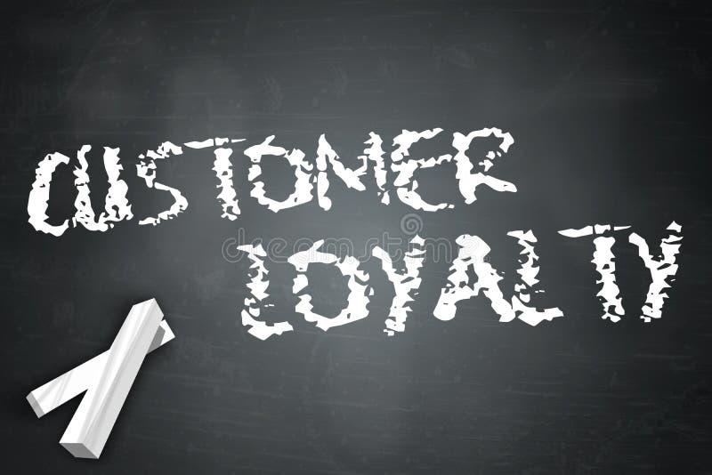 Blackboard klienta lojalność ilustracji