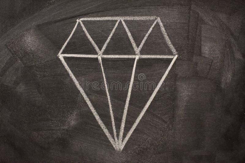 blackboard krystaliczny pictorial znak obrazy stock
