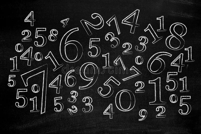 blackboard liczby royalty ilustracja