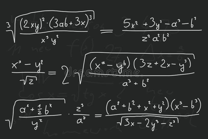 blackboard matematycznie ilustracji