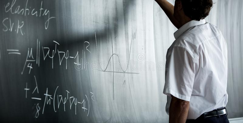 Blackboard with lesson written on it royalty free stock photo