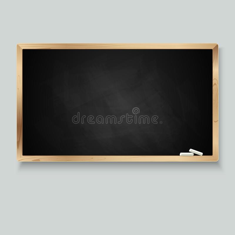 Blackboard for message with chalk. Vector illustration vector illustration