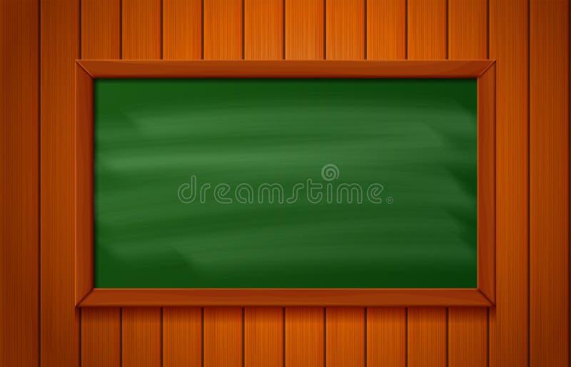 Blackboard na drewnianym tle ilustracja wektor