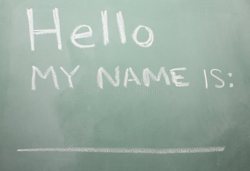Download Blackboard Nametag stock image. Image of line, social - 12329859