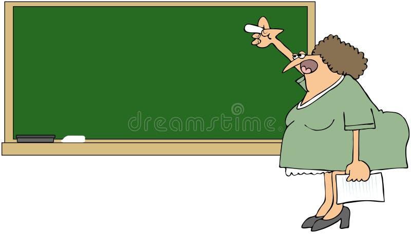 blackboard nauczyciel royalty ilustracja