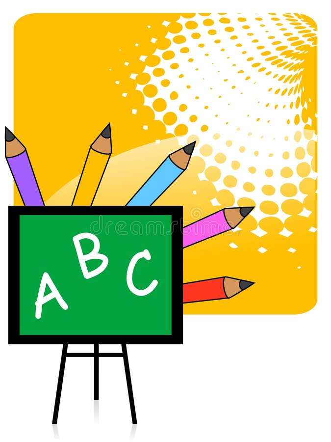Blackboard And Pencil Colors Stock Images