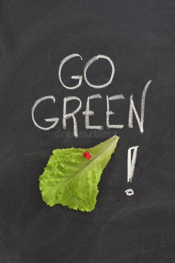 blackboard pojęcie idzie zieleń obrazy stock