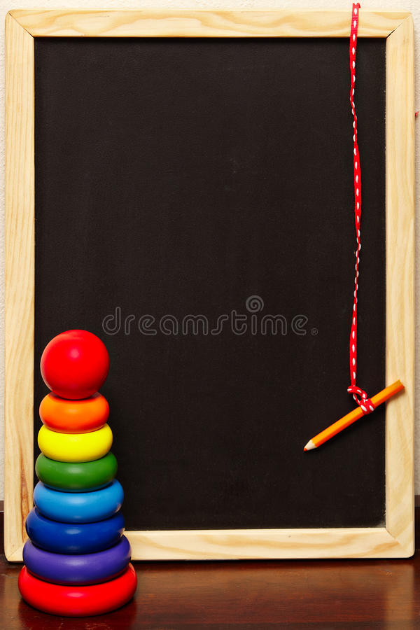 Blackboard and pyramid royalty free stock images
