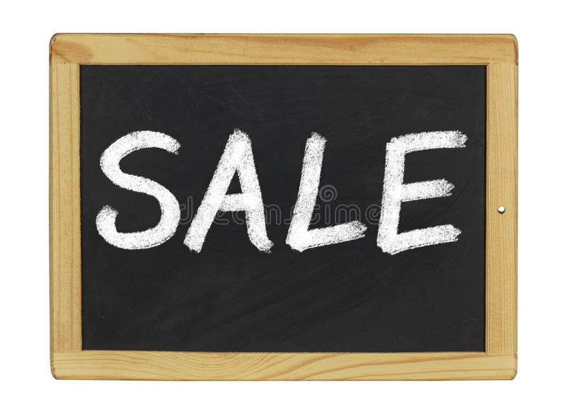 Blackboard with Sale royalty free stock image