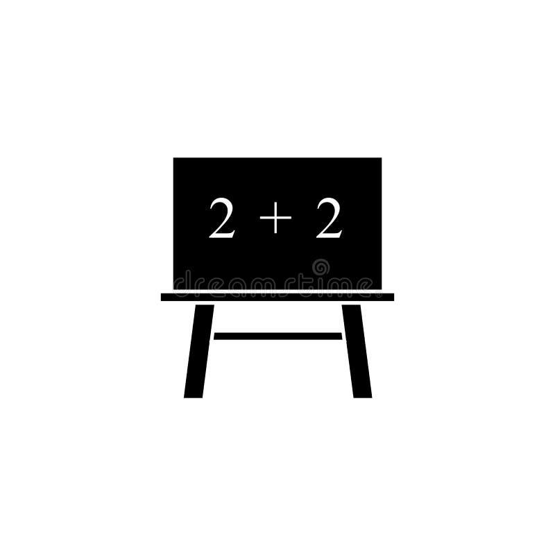 Blackboard of school icon the teach mathematical vector illustration