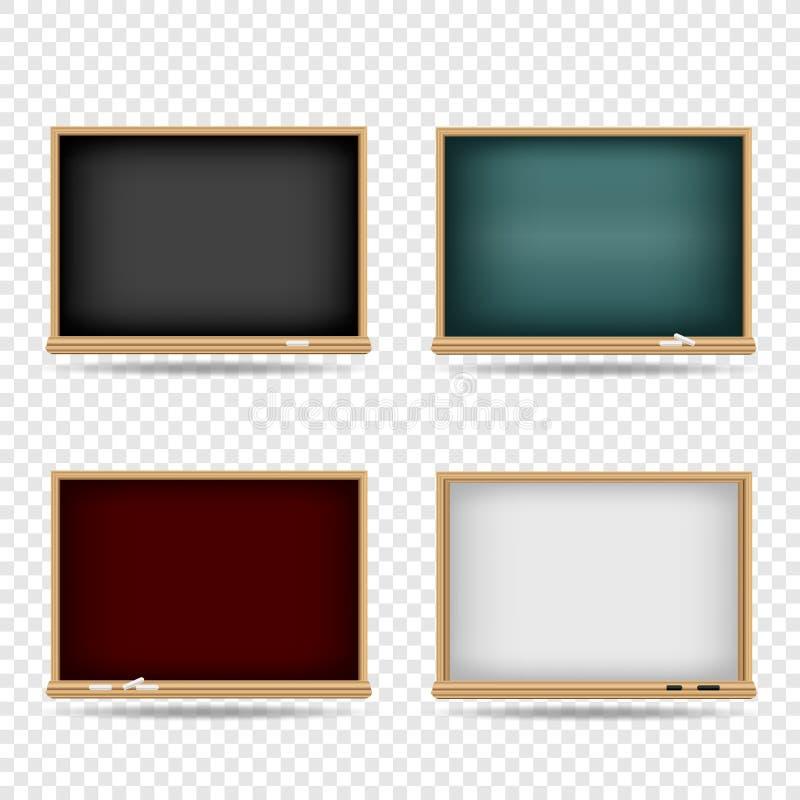 Blackboard School Template Set Stock Vector - Illustration of ...