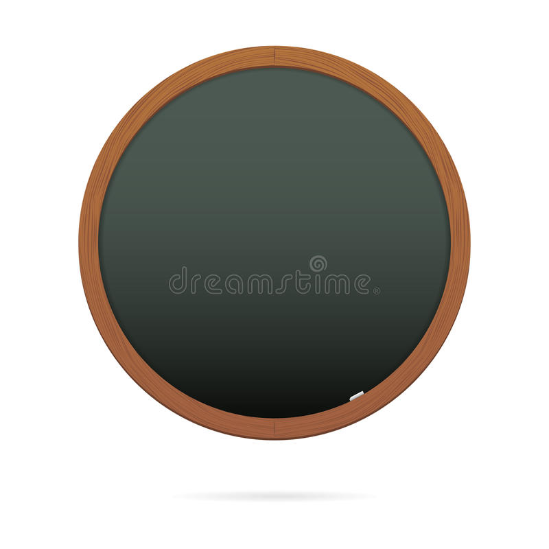 Download Blackboard In The Shape Of Circle Stock Vector - Image: 26131701
