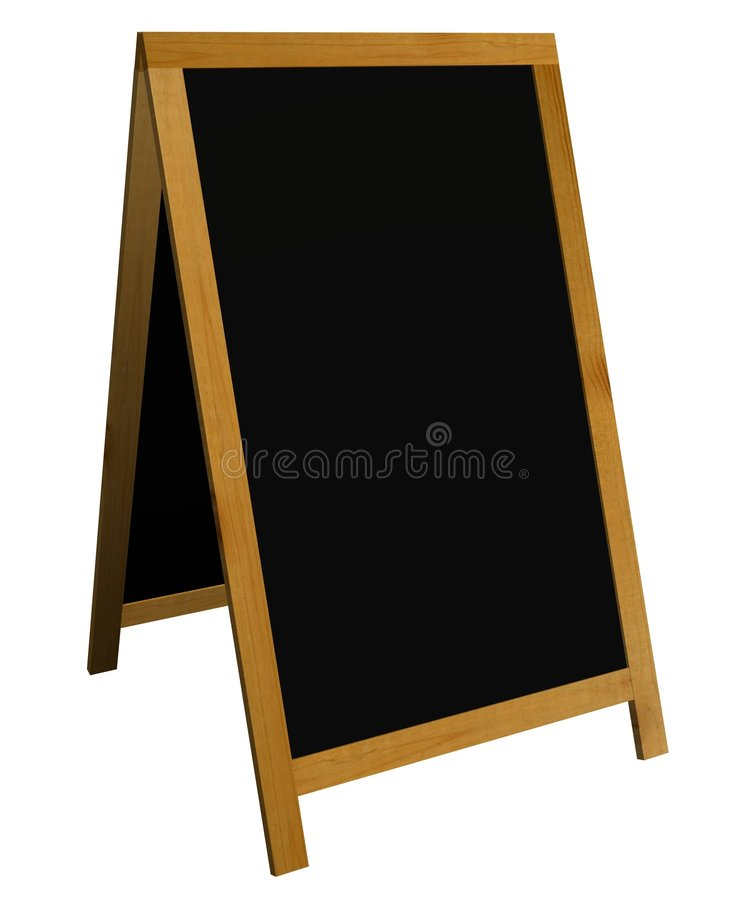 Blackboard sign stock image