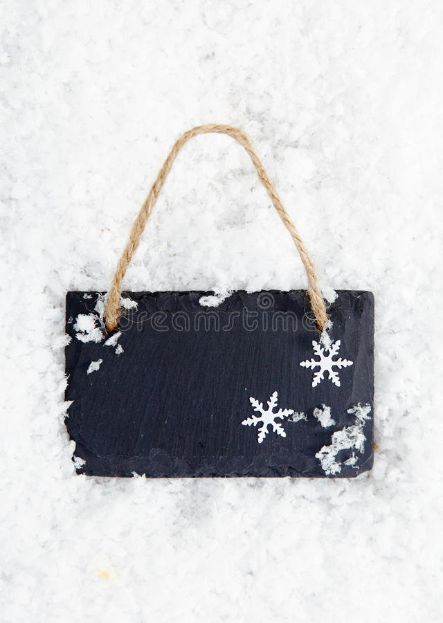 Download Blackboard On Snow With Snowflakes Stock Photos - Image: 26515223