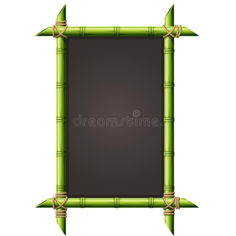 Blackboard in square bamboo frame - menu royalty free illustration