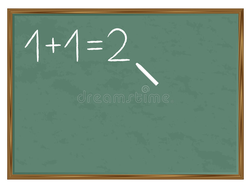 blackboard suma ilustracja wektor