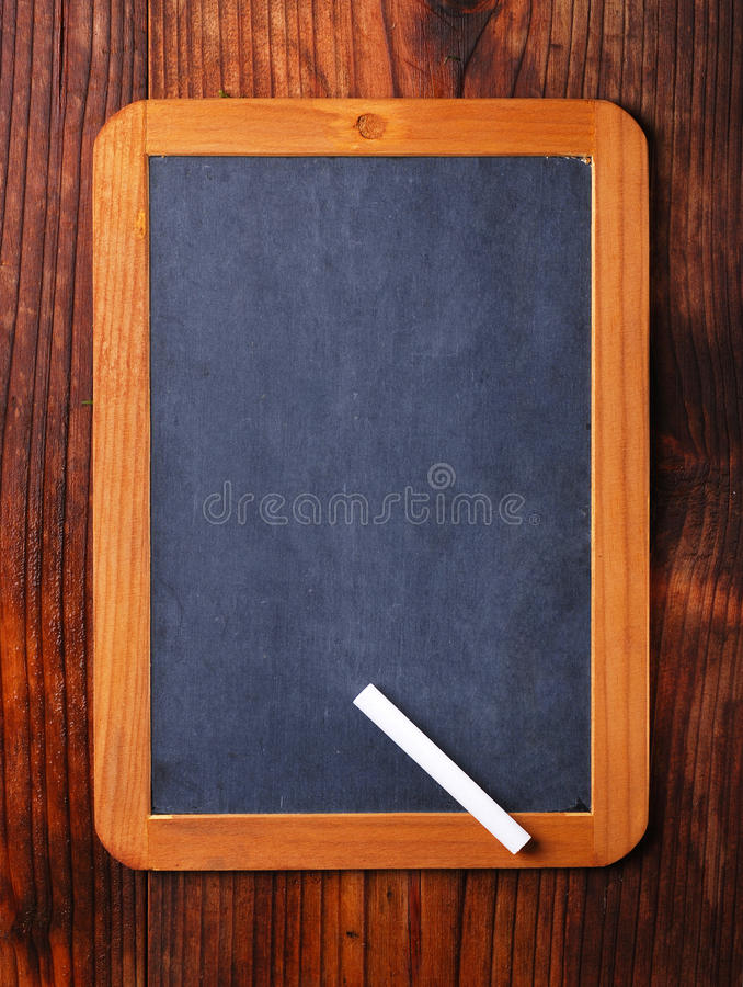 Blackboard on the table stock photo