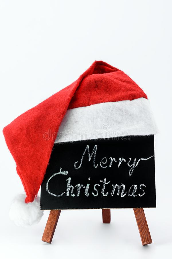 Blackboard with text `Merry Christmas` royalty free stock image