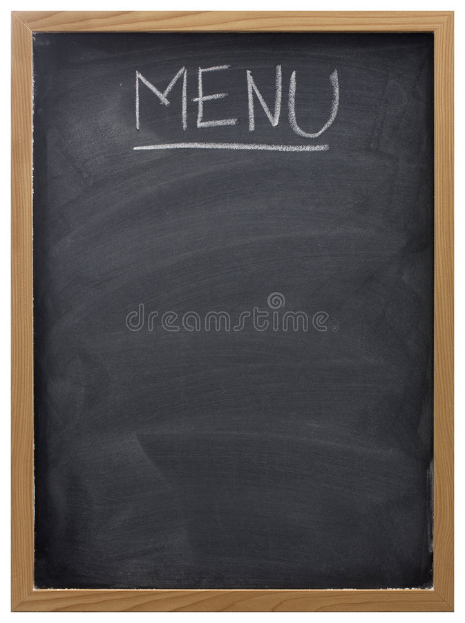 Blackboard used as menu royalty free stock photography