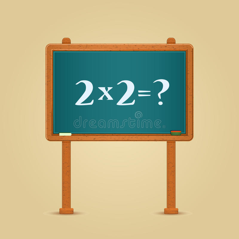 Free Blackboard With Simple Multiply And Equation Stock Image - 39756111